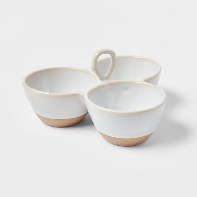 19oz Stoneware 3-Section Serving Dish - Threshold™