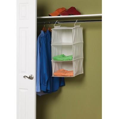 3 Shelf Hanging Sweater Organizer   Natural Blended Canvas : Target