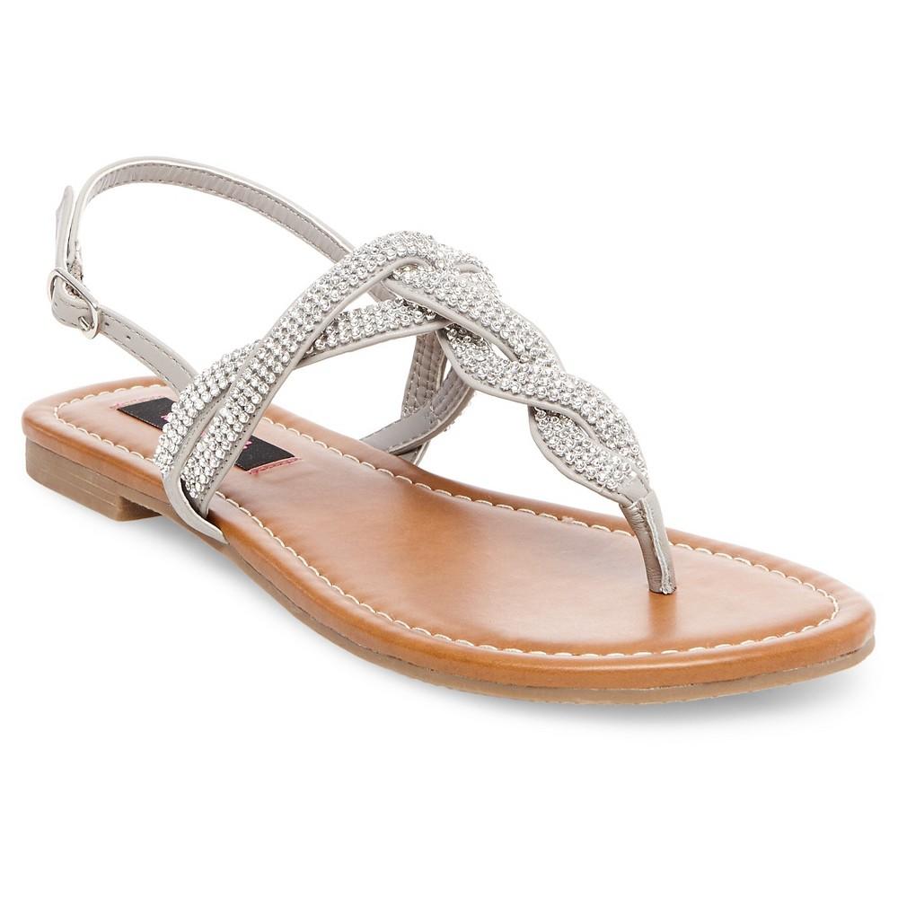 Women's Betseyville Brenda Embellished Flat Sandals - Gray 10