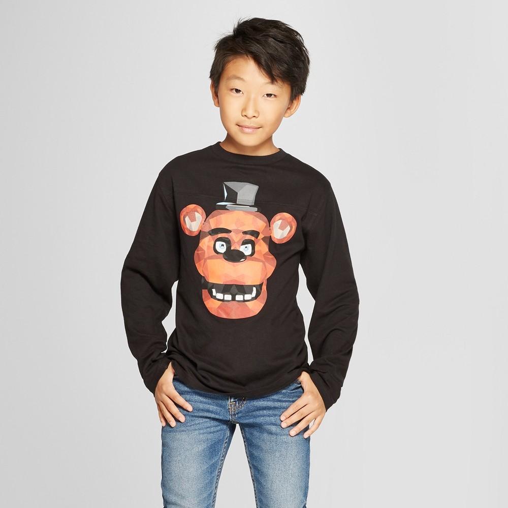 Boys' Five Nights at Freddy's Long Sleeve Graphic T-Shirt - Black L