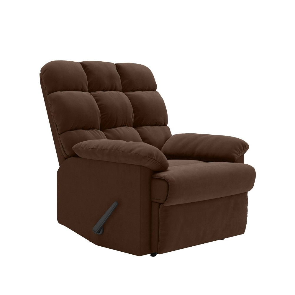 Image of Prolounger Microfiber Wall Hugger Recliner Dark Brown - Handy Living