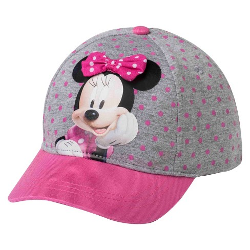 33aed1001 Toddler Girls' Minnie Mouse™ Baseball Hat - Pink & Gray : Target