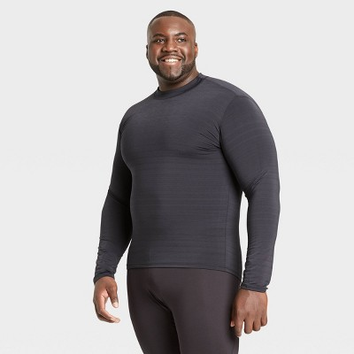 Men's Long Sleeve Fitted Cold Mock T-Shirt - All in Motion™