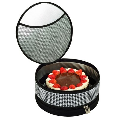 """Picnic at Ascot Pie and Cake Carrier 12"""" Diameter - Rigid No Sag - Sides, Top, Bottom"""