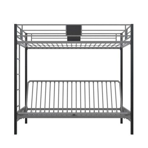 Twin Over Futon Maxence Metal Bunk Bed Silver Black Room Joy Target