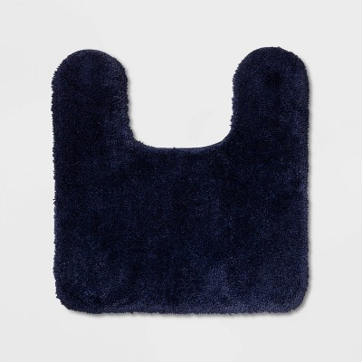 Performance Nylon Contour Bath Rug Navy Blue - Threshold™