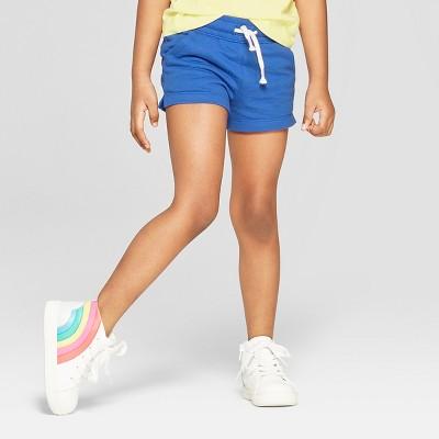 Toddler Girls' Straight Pull-On Shorts - Cat & Jack™ Blue 4T
