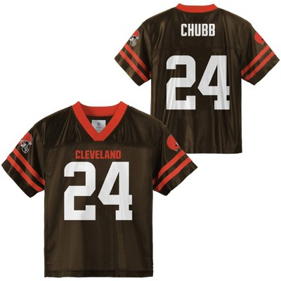 NFL Cleveland Browns Toddler Boys' Nick Chubb Short Sleeve Jersey