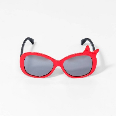 Toddler Girls' Minnie Mouse Sunglasses - Red