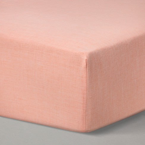 Fitted Crib Sheet Solid - Cloud Island™ Orange - image 1 of 2