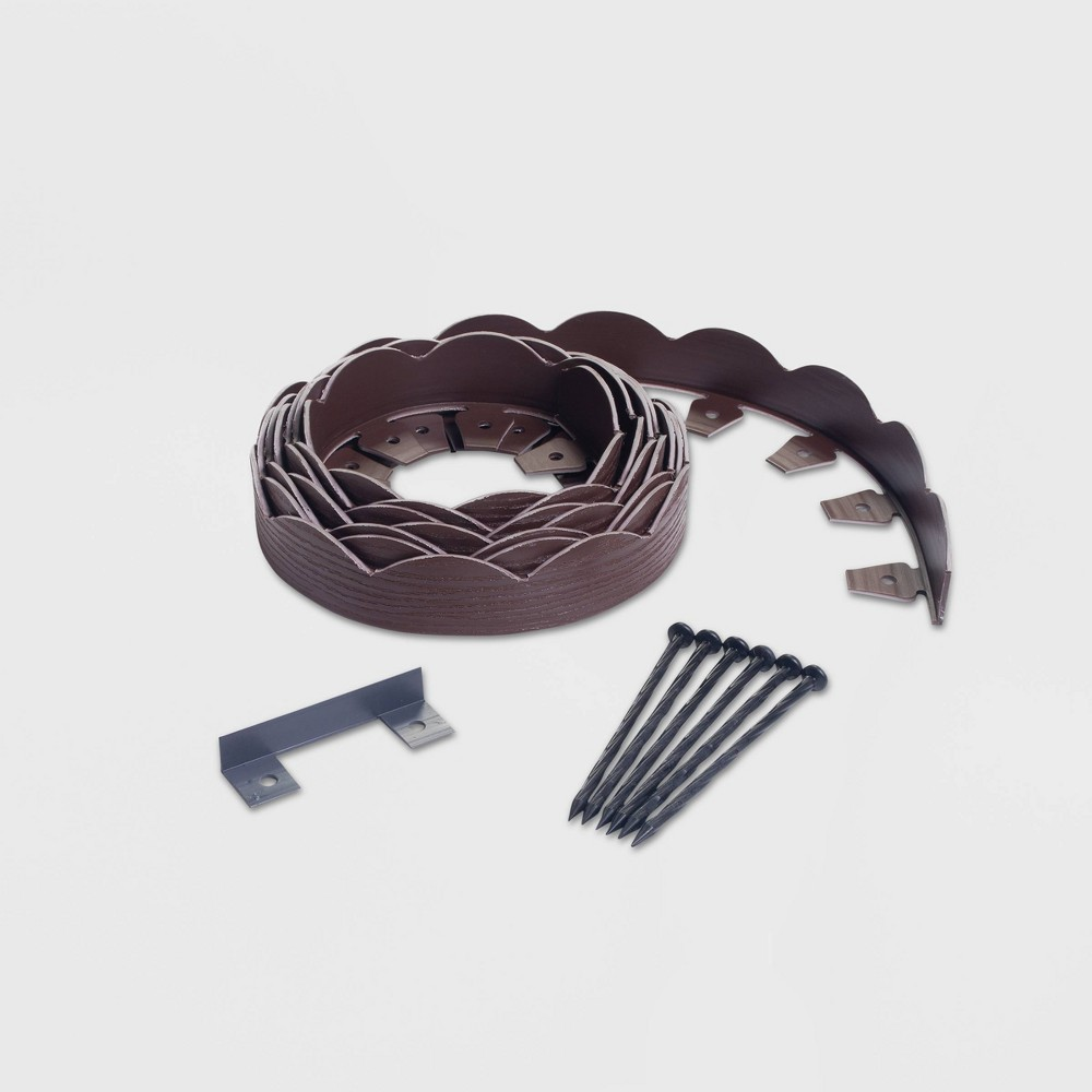Image of 20' No-Dig Garden Edging Kit Brown - EasyFlex