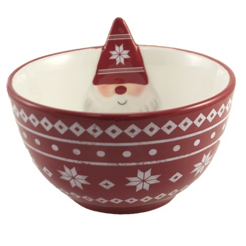 """Tabletop 4.0"""" Gnome Bowl Earthenware Holiday Ganz  -  Serving Bowls - image 1 of 3"""