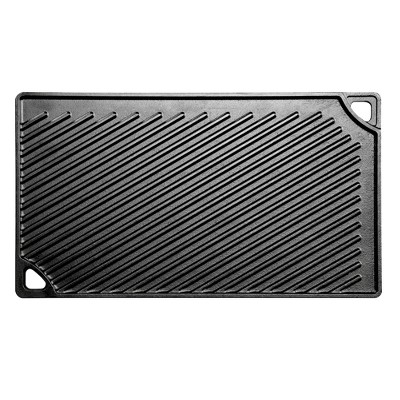 "Lodge 16.75"" x 9.5"" Cast Iron Reversible Griddle"