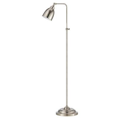 "46"" x 62"" Adjustable Height with Metal Floor Lamp Brushed Steel - Cal Lighting"
