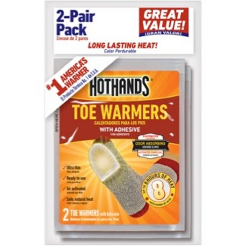 2 Pair Toe Warmers White - HotHands - image 1 of 1