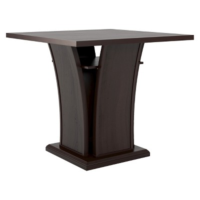 """Bistro 36"""" Counter Height Dining Table with Curved Base Wood/Cappuccino - CorLiving"""