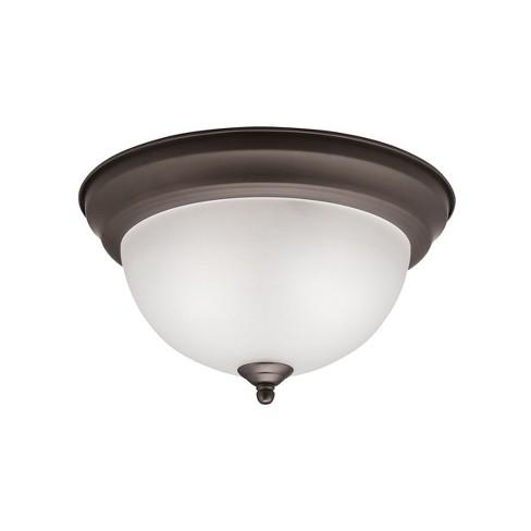 "Kichler 8111 2 Light 11-1/4"" Wide Flush Mount Ceiling Fixture - image 1 of 4"
