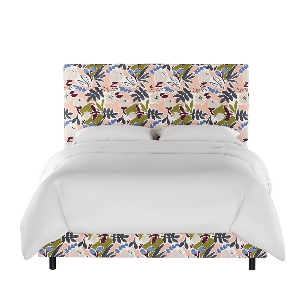 Queen Dolce Bed Peach Floral - Cloth & Co.