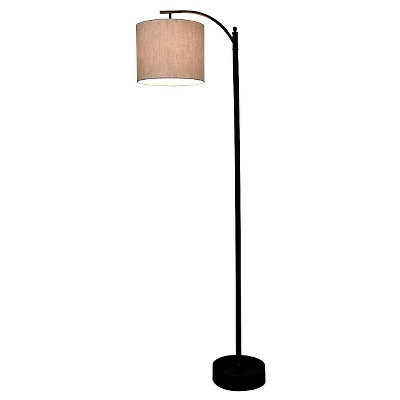 Black Downbridge Floor Lamp with Tan Shade - Threshold™