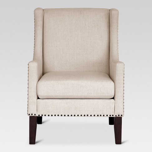 Jackson Wingback Chair - Beige - Threshold™ - image 1 of 5