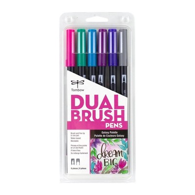 6ct Dual Brush Pen Art Markers Galaxy Palette - Tombow