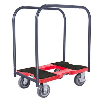 Snap Loc 1,800 lb Capacity Super Duty E Track Panel Cart Dolly Red, Heavy Duty 6 in Polyurethane Swivel Non Marking Caster Wheels