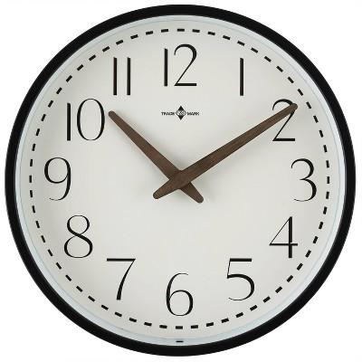 "10"" Wood Hand Wall Clock Matte Black - Threshold™"