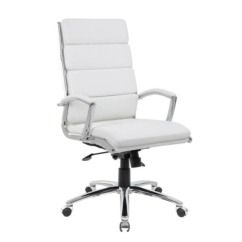 "Image of ""43"""" Executive Chair White/Chrome Finish - Boss Office Products"""