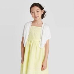 Girls' Short Sleeve Cardigan Sweater - Cat & Jack™ White