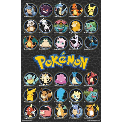 "34""x23"" Pokemon All Time Favorites Unframed Wall Poster Print - Trends International - image 1 of 2"