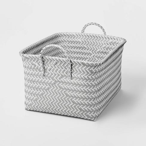 Large Woven Rectangular Storage Basket - Room Essentials™ - image 1 of 3