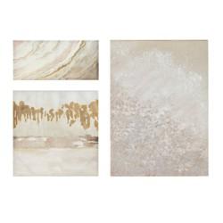 3pc Glistening Dream Hand Embellished Canvas