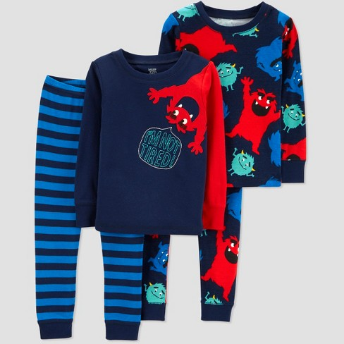 Toddler Boys' 4pc Monster Pajama Set - Just One You™ Made by Carter's® Blue - image 1 of 1