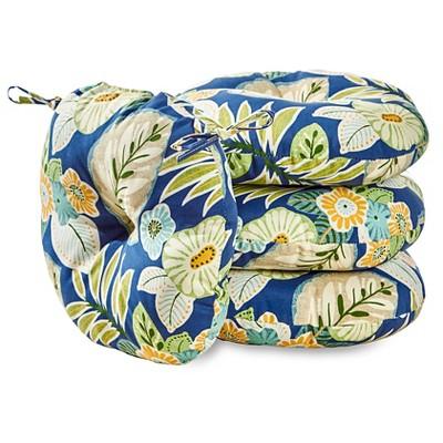 "4pk 15"" Marlow Floral Outdoor Bistro Chair Cushions - Kensington Garden"
