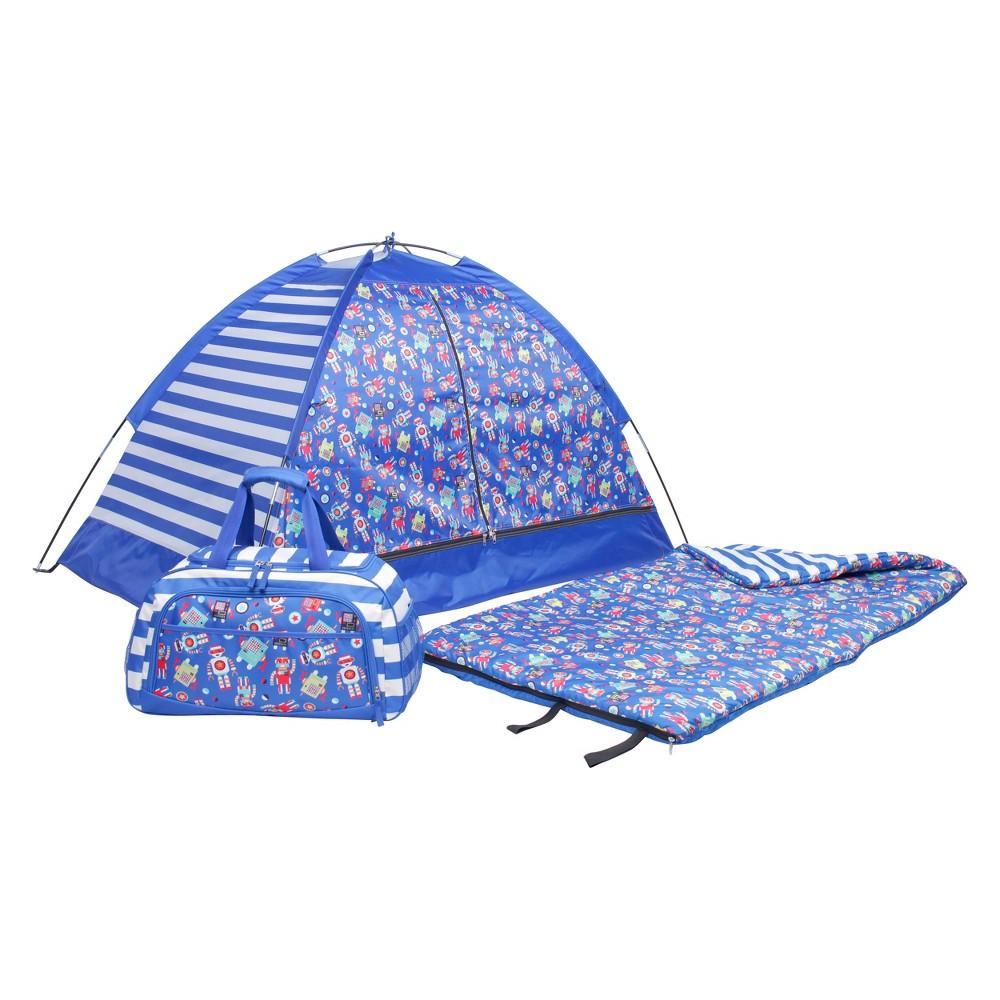 Crckt Kids' Robot 3pc 50 Degree Sleeping Bag Sets - Blue