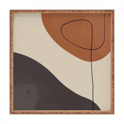 "13"" Wood Alisa Galitsyna Modern Abstract Shapes 3 Small Square Tray - society6"