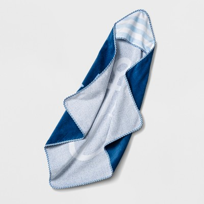 Baby  Ahoy  Hooded Towel Cloud Island™ - Blue