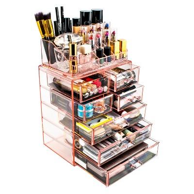 Sorbus Makeup Storage Organizer - Medium - Set 1 - Pink