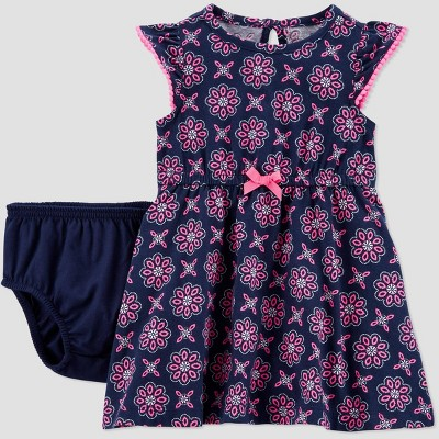 Baby Girls' Geometric Neon Dress - Just One You® made by carter's Navy 6M