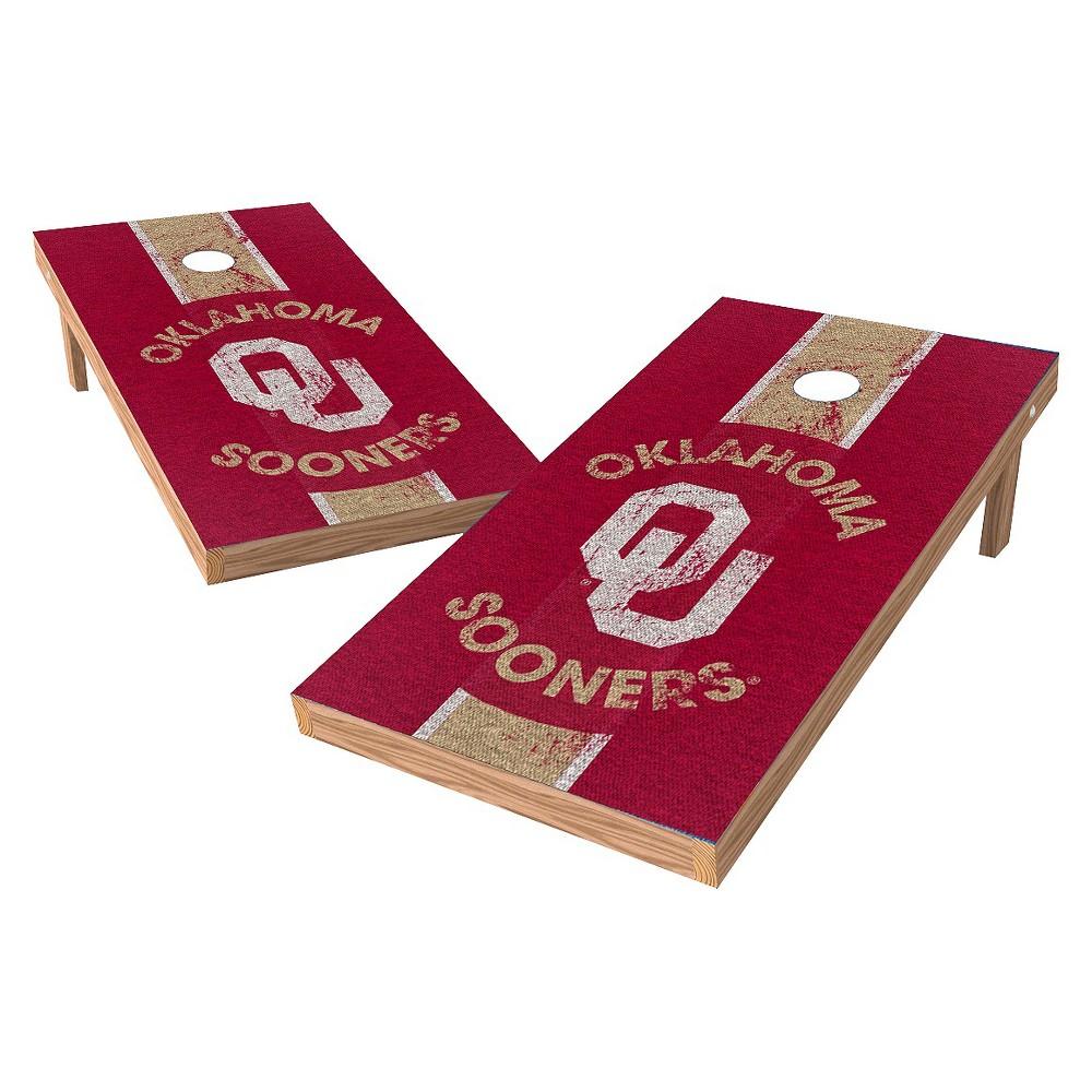 Oklahoma Sooners Wild Sports 2' x 4' Heritage Design Authentic Cornhole Set