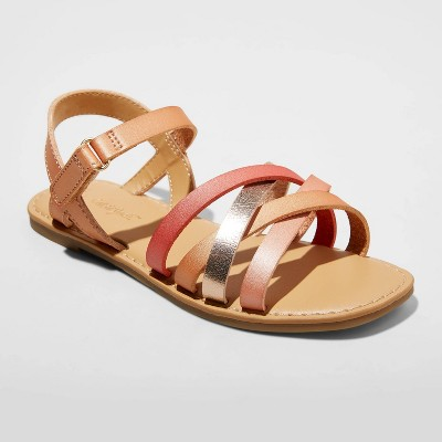 Girls' Karidee Sandals - Cat & Jack™ Cognac