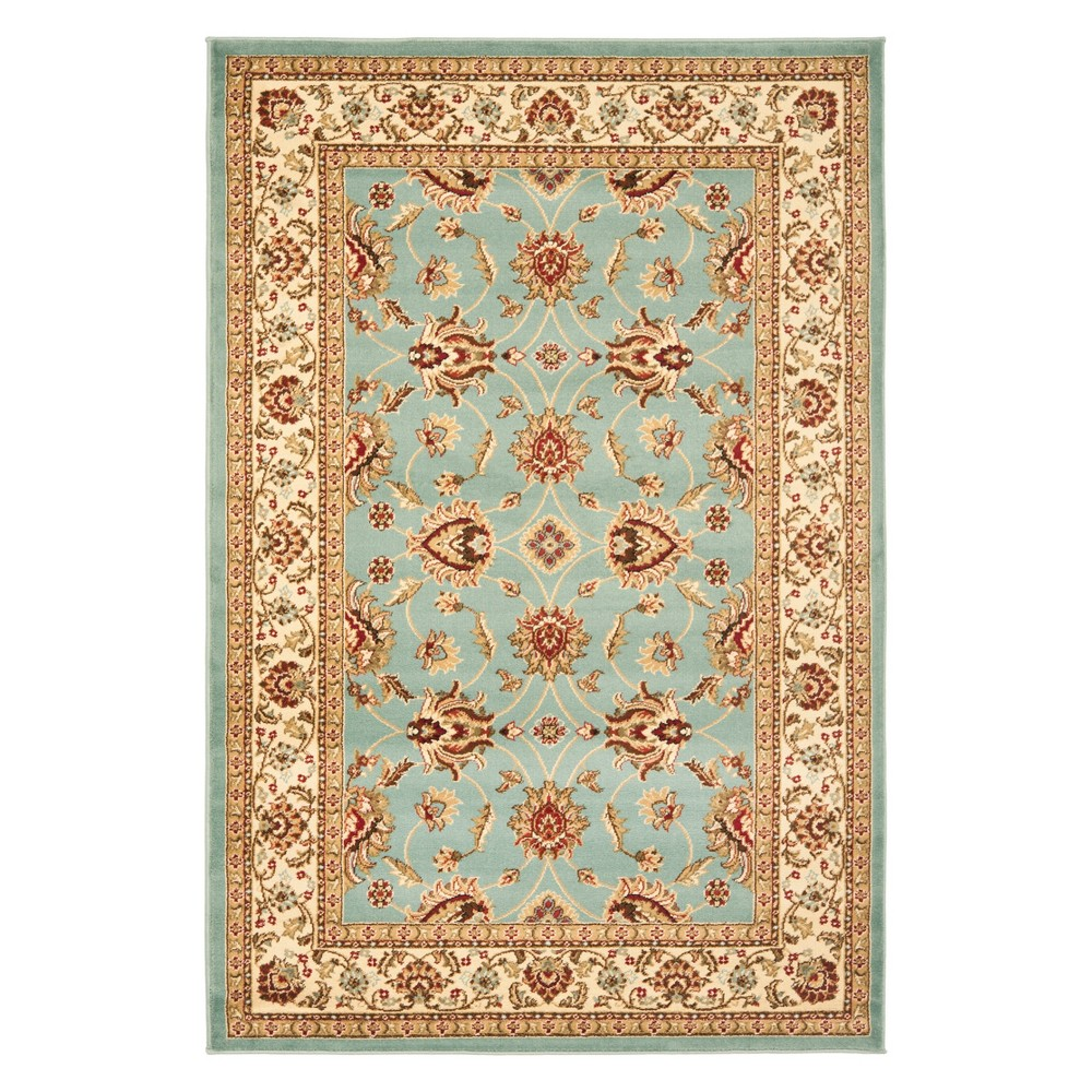 33X53 Floral Loomed Accent Rug Blue/Ivory - Safavieh Coupons