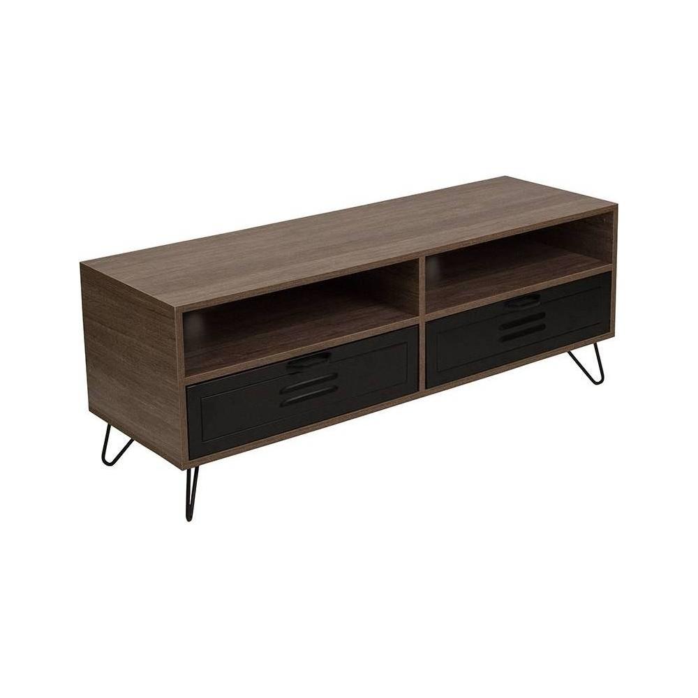 Woodridge TV Stand with Drawers Brown - Riverstone Furniture