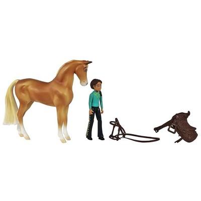 Breyer Animal Creations Breyer Spirit Riding Free Chica Linda & Prudence Small Horse & Doll Set