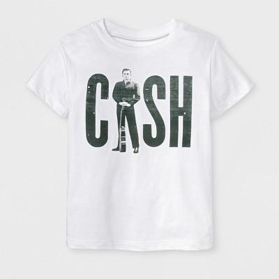 Toddler Boys' Johnny Cash Short Sleeve T-Shirt - White 12M