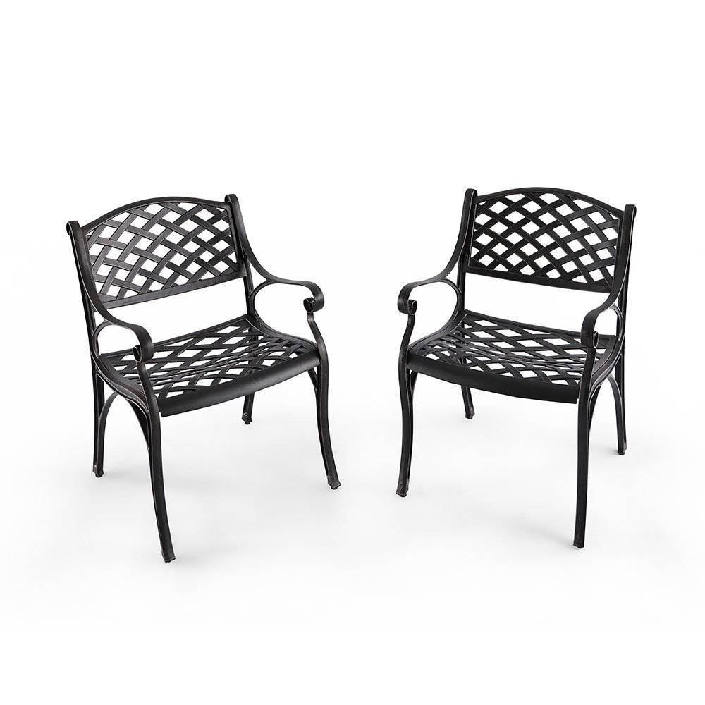 Image of 2pk Cast Aluminum Outdoor Dining Chair - Nuu Garden