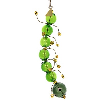 Christina's World Silly Centipede Insect Green Gold  -  Tree Ornaments