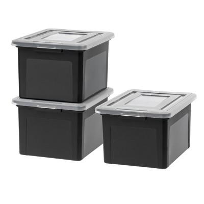 IRIS 3pk Letter and Legal File Storage Box