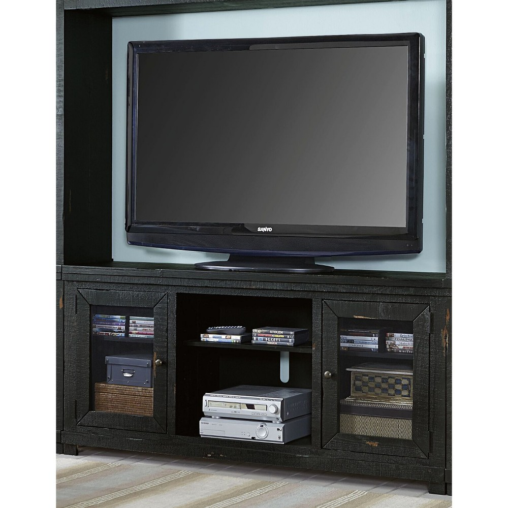 54 Willow TV Console Distressed Black - Progressive
