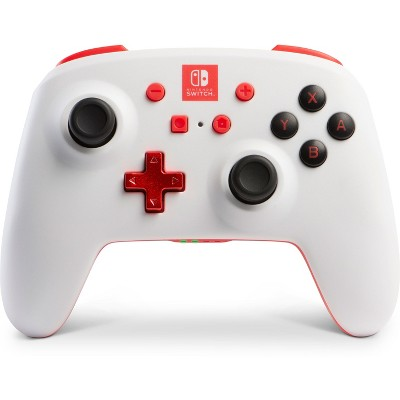 PowerA Enhanced Wireless Controller for Nintendo Switch - White/Red